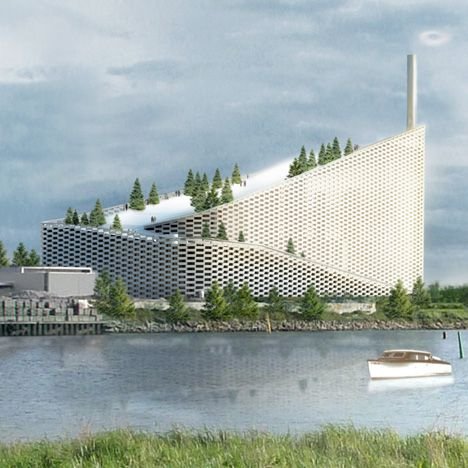 The steam rings will be blown out of a chimney on top of the BIG-designed Amager Bakke Waste-to-Energy Plant in Copenhagen, which will also feature a ski slope on its roof.