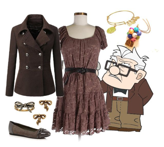 """Carl Fredricksen from Up"" by disneydazzle ❤ liked on Polyvore featuring Disney, As U Wish, Alex and Ani and Marc Jacobs"