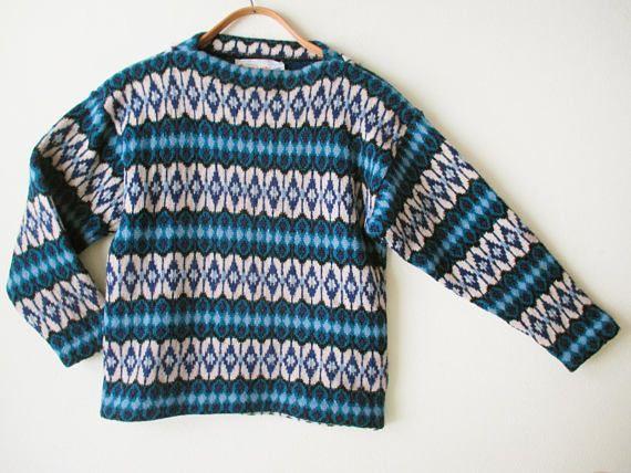 Vintage 70s Scandinavian Design/Sweden Lamb's Wool Ski