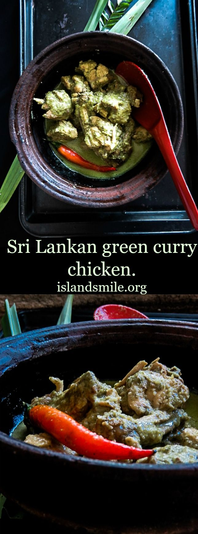 Sri lankan I chicken I curry I lunch I gluten-free I recipe I easy I meals I healthy I coconut milk I dinner.  Green curry chicken(Sri Lankan)with freshly grated Coconut, is inspired by the ever popular Thai green curry. use your basic curry ingredients to make a simpler green curry dish.