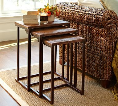 Elegant Granger Reclaimed Wood Nesting Tables. Living Room ... Part 4