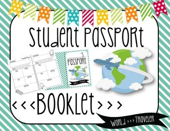 Travel the world with your students this year! They will love visiting different destinations around the world and having a passport to keep track of all they have learned and all they have seen!