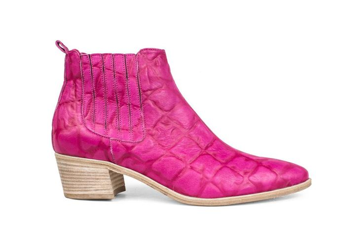 The Coolest Spring Boots in Stores Right Now - Modern Vice Handler Quilted Bootie in Pink,  $395; at Modern Vice