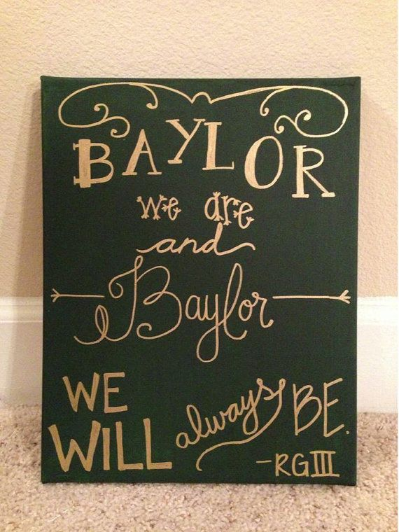 Baylor We Are. #SicEm // #Baylor Spirit Canvas by TheCoatedCanvas on Etsy, $35.00