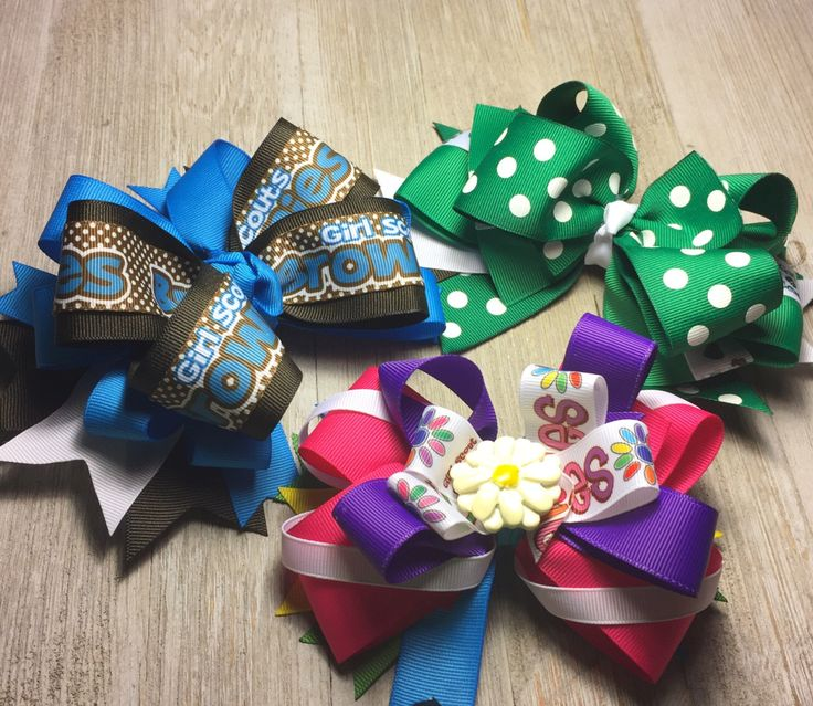 A personal favorite from my Etsy shop https://www.etsy.com/listing/483285969/gsa-girl-scouts-of-america-bows-daisy