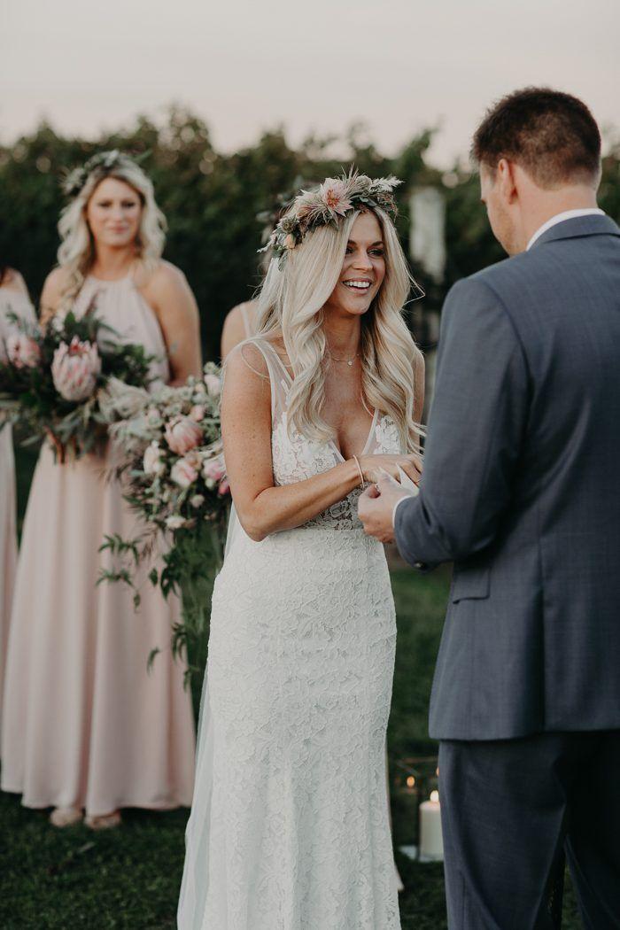 Oh So Romantic Blush and Ivory Jonathan Edwards Winery Wedding