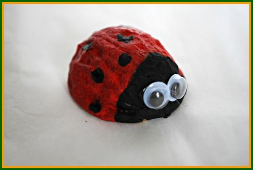 How cute is this little Ladybug Walnut? Make one with your kids this weekend! http://www.rewards4mom.com/food-art-kids/