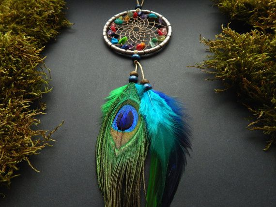 Gemstone dreamcatcher car mirror decoration by DeiDreamCatchers
