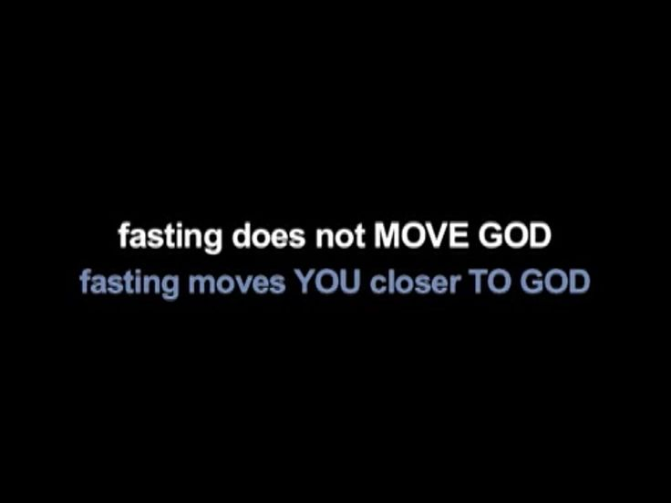 Fasting for the truth and righteousness and peace