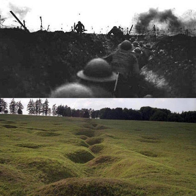 15 Incredible Photos Taken Then And Now World War One World War I Wwi