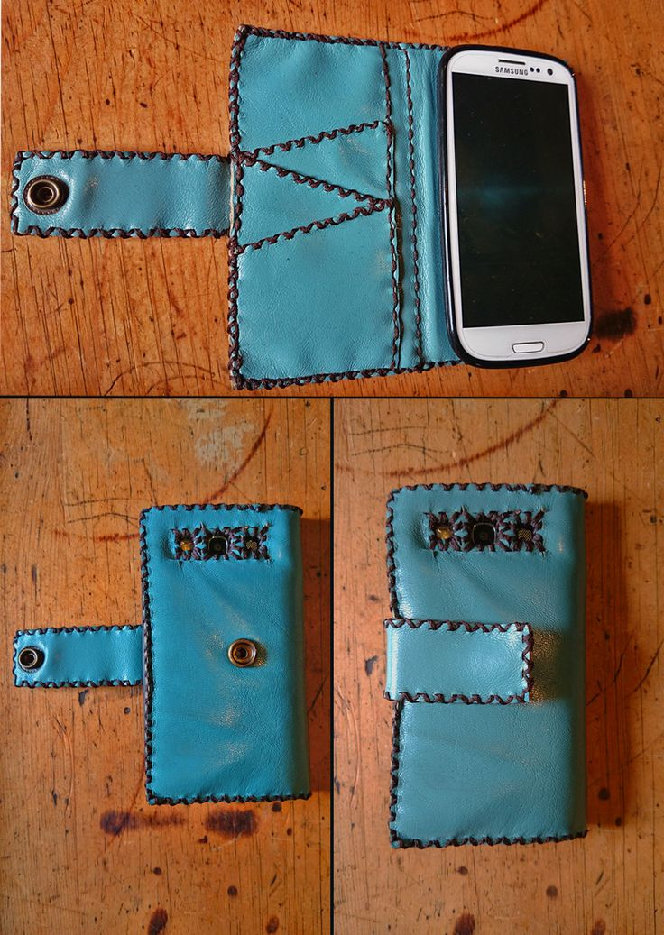 Samsung S3 mini (teal blue) leather cover.  -Press stud to open and close cover comfortably -3 card holders  I got a very positive feedback from this client. Thanks for supporting my business.