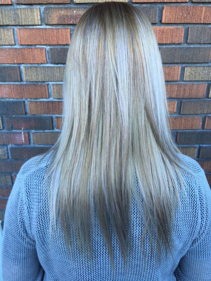 Balayage blond gris