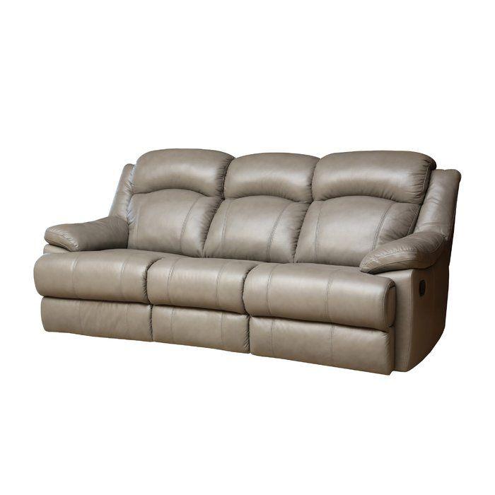 Nigel Genuine Leather Reclining Sofa Reclining Sofa Leather Reclining Sofa Sofa