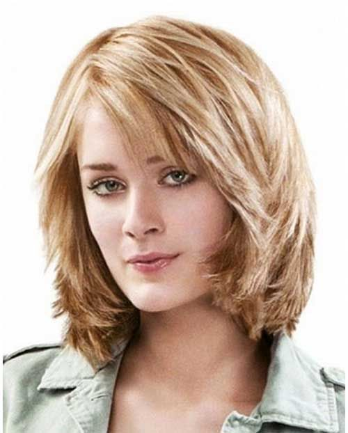 Short Layered Bob Hairstyles With Bangs: 15 Medium Layered Bob With Bangs