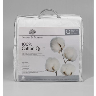 100% Cotton Quilt by Logan & Mason