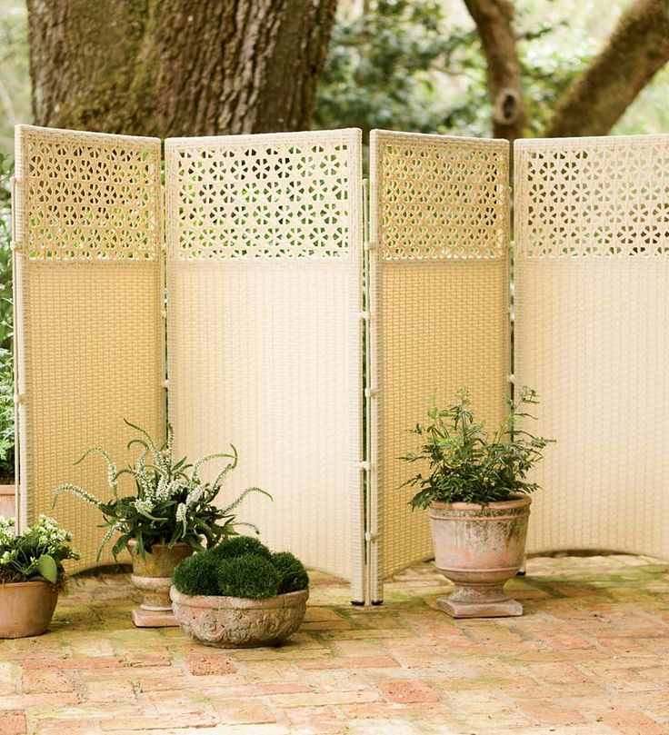 Weatherproof Wicker Privacy Screen Blocks An Unattractive