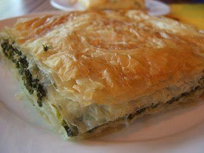 Spanakopita ~ Spinach & Feta Pie ... (step-by-step photo directions w/ #recipe)