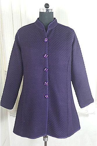 Designer Purple Warm Coat.