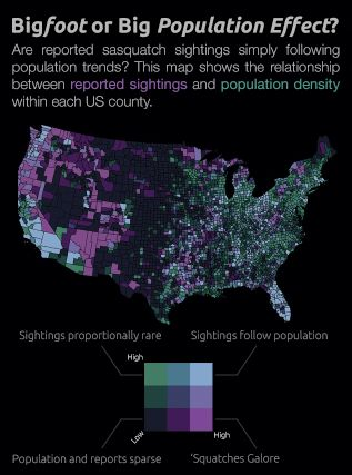 Bigfoot. Sasquatch. Skookum. Yahoo mapped and graphed all 3,313 sightings that were reported from 1921 to 2013: