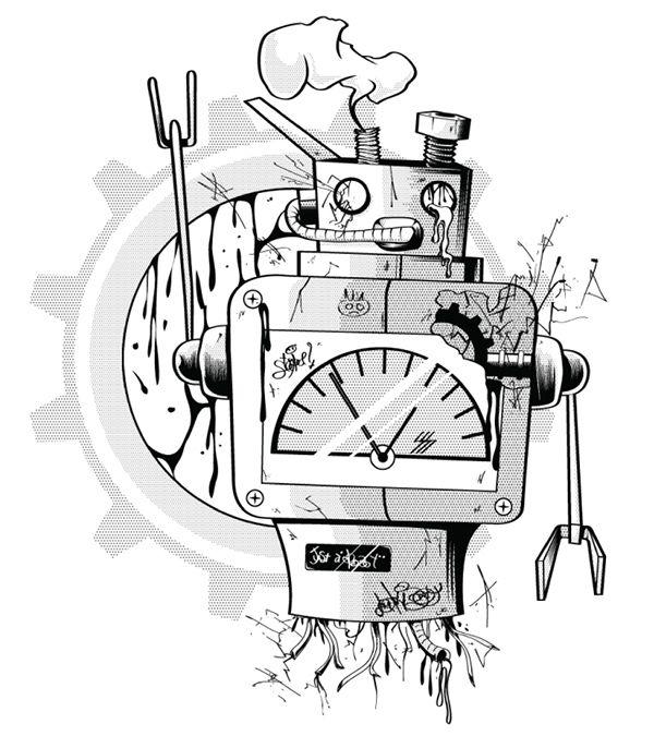ordinary robot #robot #bw #graphic