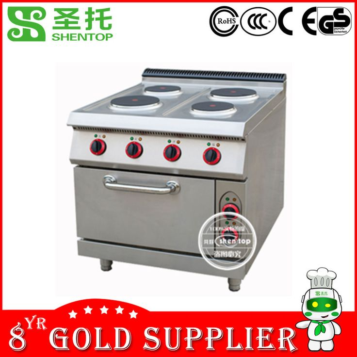 Shentop STPO-T4J Stainless Steel Commercial Cooking Equipment Electric Stove with Oven