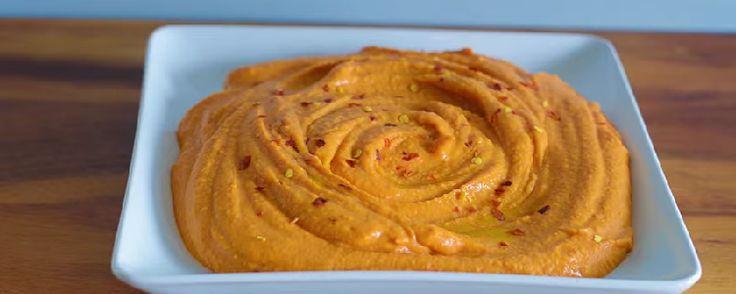 hummus de pimientos asados