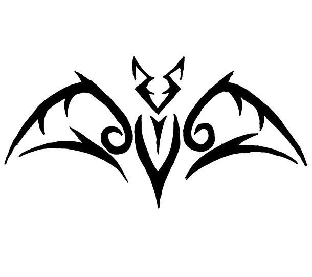 Tribal Bat Tattoo Design Bats Tattoo Design Bat Tattoo Simple Tribal Tattoos