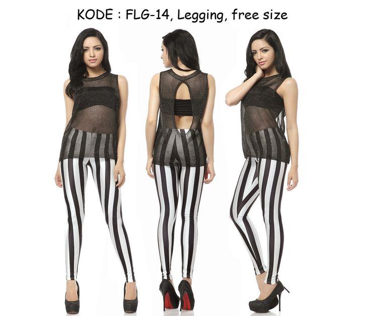 FLG14-90rb Jual legging seksi motif zebra hitam putih seksi zumba