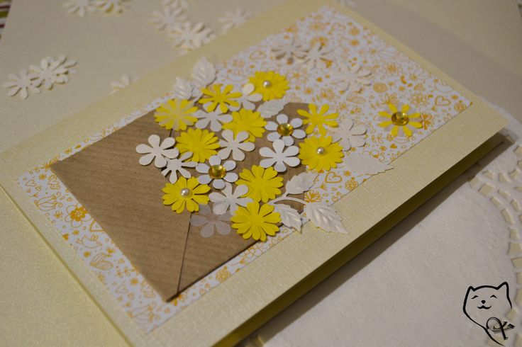 Rankų darbo sveikinimas Motinos dienos proga. Handmade  Mother's Day Card. kamelija27@gmail.com