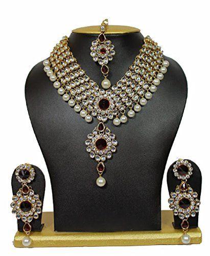 Bollywood Traditional Style Red Stones Kundan White Pearl... https://www.amazon.com/dp/B01K9MO2J8/ref=cm_sw_r_pi_dp_x_9lxPyb894992J