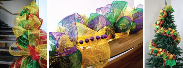 Party Ideas by Mardi Gras Outlet: Christmas Deco Mesh Garland : A Video Tutorial