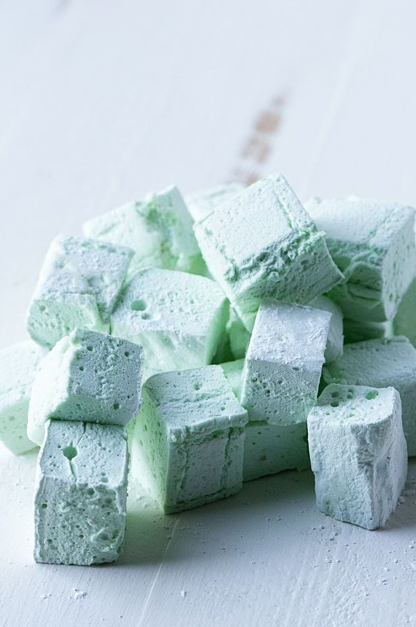 Mint Marshmallows - perfect in spiked hot chocolate!!                                                                                                                                                                                 More