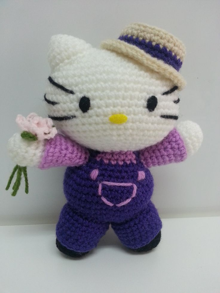 Tutorial amigurumi Hello Kitty - Brazos (mod-2)