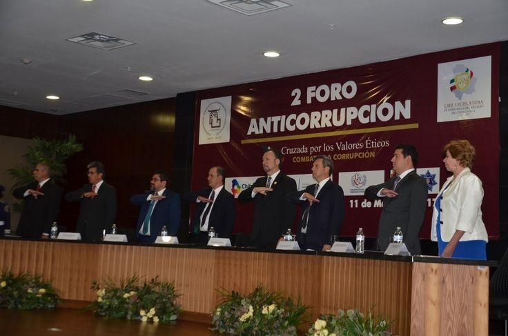 <p>Chihuahua, Chih.- En el marco del inicio de los trabajos del Segundo Foro Nacional Anticorrupción, el Fiscal General del Estado Cesar Augusto Peniche