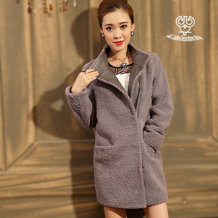 Подлинной двойной лицо кожаные пальто импортированы овчины меховой плащ овец меха стриженой зима женщины куртка OutwearAJ-S030