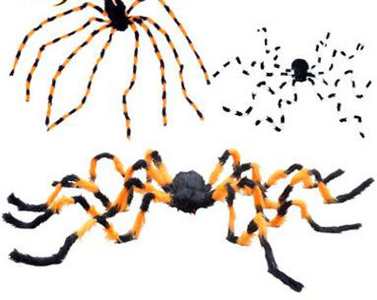 Big Spider Halloween Party Toys Haunted House Props Scary Black Giant 200 Cm