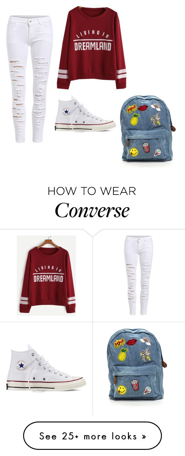"""""""Untitled #1"""" by piikea-fisher on Polyvore featuring Converse"""
