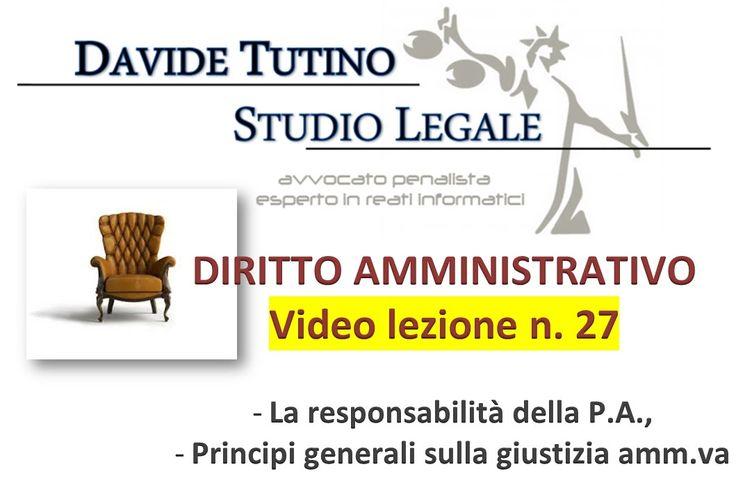 Diritto Amministrativo Video lezione n.27 : La responsabilità della P.A.