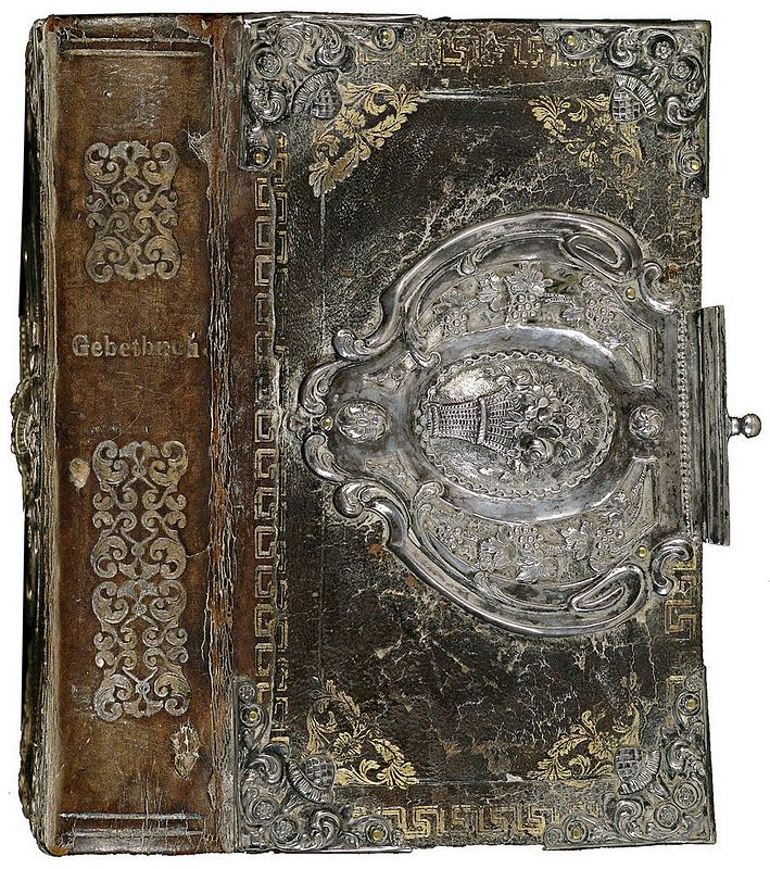 love this intricate clasp on old book...