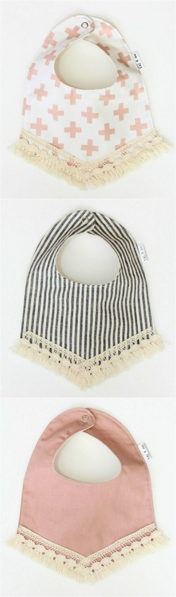 Fringed Boho Baby Bibs | TajandMe on Etsy
