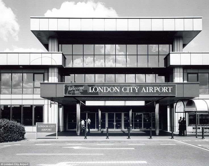 London City Airport is still the only airport actually in the UK's capital. Pictured is the completed terminal entrance from 1987