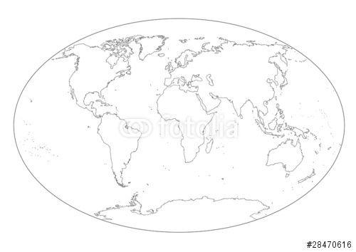"""Scarica l'immagine Royalty Free  """"Mappa del mondo in bianco e nero vuota"""" creata da carlacastagno al miglior prezzo su Fotolia . Sfoglia la nostra banca di immagini online per trovare la foto perfetta per i tuoi progetti di marketing a prezzi imbattibili!"""