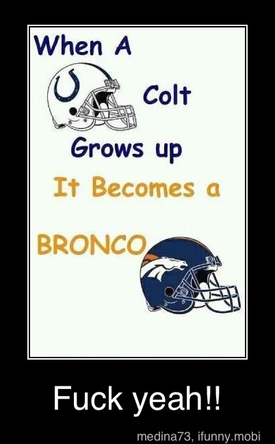 I see what you did there! haha. Peyton Manning ...excuse the language :)