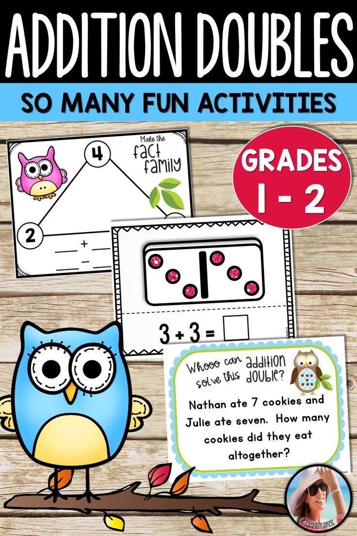 Addition Doubles Doubles Facts Addition Doubles Facts Doubles Facts Have Fun Teaching Learn Facts Adding numbers using doubles