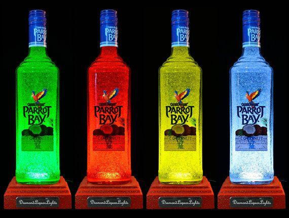Captain Morgan Parrot Bay Rum Multicolour LED Bottle Lamp.