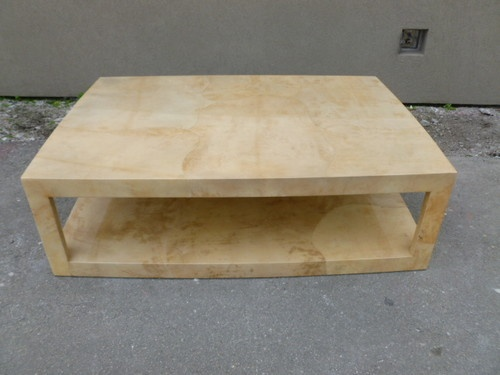 Superb Vintage Large Jimeco Goatskin Coffee Table in The Manner of Karl Springer | eBay