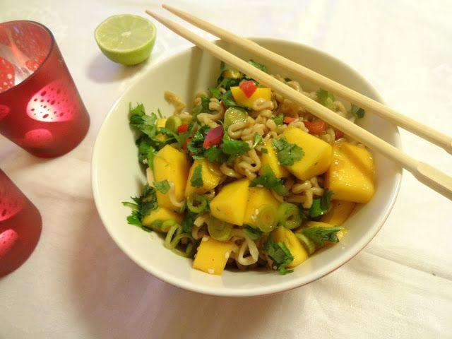 Edel's Mat & Vin : Asiatisk nudelsalat med mango ♫