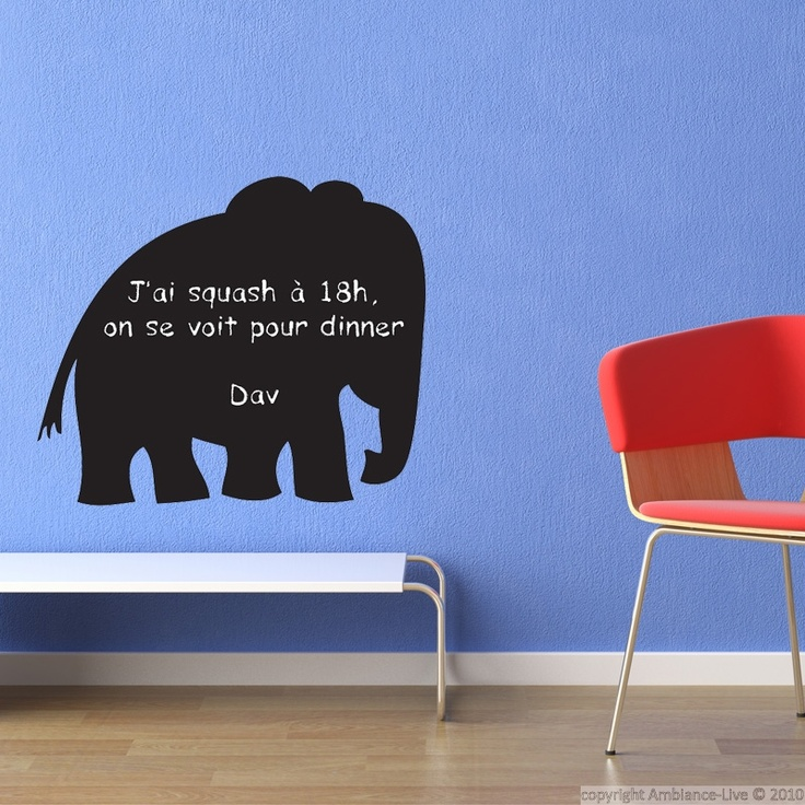 This Elephant Blackboard Sticker Is Made To Write With Chalk. You Can Write  And Remove The Writings With Wet Or Dry Tissue As Many Times As You Want. Part 77