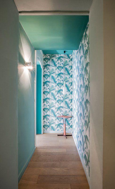 128 best Papier peint u2022 Couloir images on Pinterest Door entry