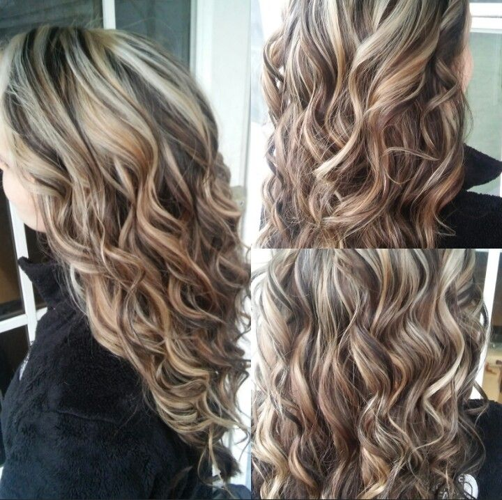 Blonde highlights and dark brown lowlights! COME LEARN MORE ABOUT MY WORK HERE! http://www.youtube.com/sameethehairstylist http://www.instagram.com/sameeschaapstyling